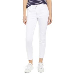 Wit & Wisdom White Absolution Skinny Ankle Pants